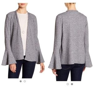 PHILOSOPHY Ribbed Bell Sleeve Cardigan Size XS